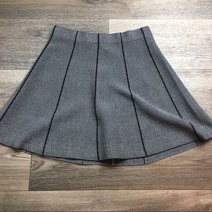 Very J Pleated Flare Grey Skirt